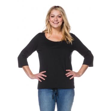 Große Größen: Basic-Shirt, schwarz, Gr.40/42-56/58