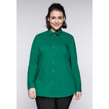 Große Größen: BASIC Stretch-Bluse, blattgrün, Gr.44-58