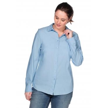 Große Größen: BASIC Stretch-Bluse, hellblau, Gr.40-58