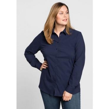 Große Größen: BASIC Stretch-Bluse, marine, Gr.44-58