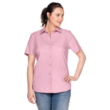 Große Größen: BASIC Stretch-Bluse mit kurzem Arm, rosé, Gr.40-58