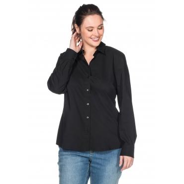Große Größen: BASIC Stretch-Bluse, schwarz, Gr.40-58