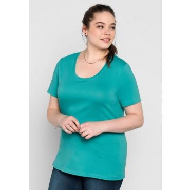 Große Größen: BASIC T-Shirt, karibiktürkis, Gr.40/42-56/58