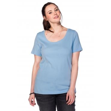 BASIC T-Shirt mit Rundhalsausschnitt, hellblau, Gr.40/42-56/58