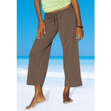Große Größen: Beachtime 7/8-Strandhose, khaki, Gr.40/42-56/58