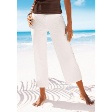 Große Größen: Beachtime 7/8-Strandhose, weiß, Gr.40/42-56/58