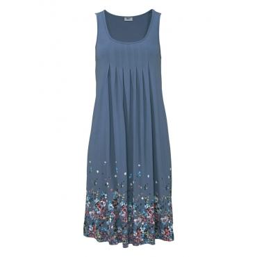 Große Größen: Beachtime Strandkleid mit Blumenprint, blau, Gr.38-52