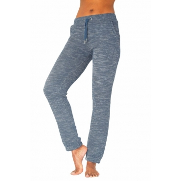Große Größen: Bench. Relaxhose in melierter-Struktur Optik, jeans+ecru, Gr.40/42-52/54