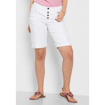 Große Größen: Bermuda Stretch-Jeans, white Denim, Gr.40-58