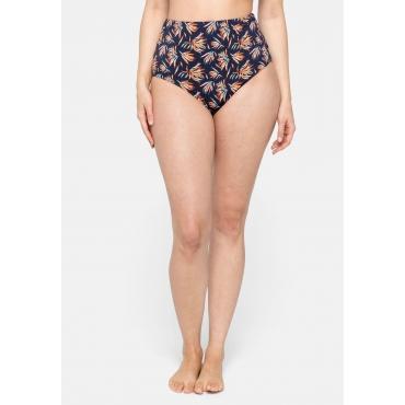 Bikinihose in High-Waist-Form, Mix & Match, marine bedruckt, Gr.44-56