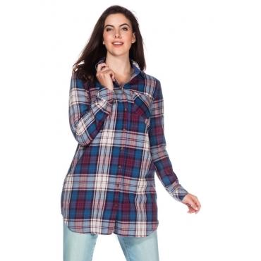 Große Größen: Bluse in lockerer Passform, bordeaux, Gr.40-58