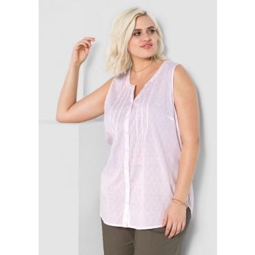 Große Größen: Bluse mit Alloverdruck, cremerosé-weiß, Gr.44-58