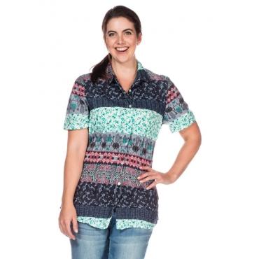Große Größen: Bluse mit Alloverdruck, mehrfarbig, Gr.40-58