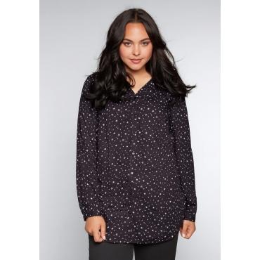 Große Größen: Bluse mit Sternendruck, anthrazit bedruckt, Gr.44-58