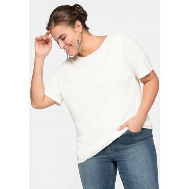 Blusenshirt im Layerlook mit rundem Ausschnitt, offwhite, Gr.44/46-56/58