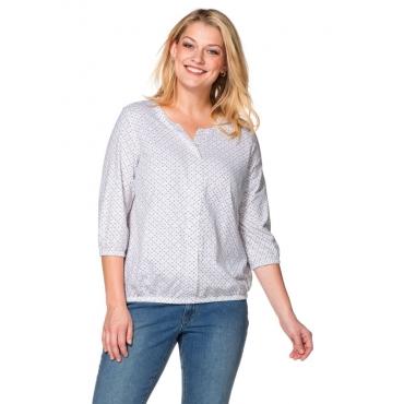 Große Größen: Blusenshirt mit Minimal-Print, offwhite, Gr.40/42-56/58