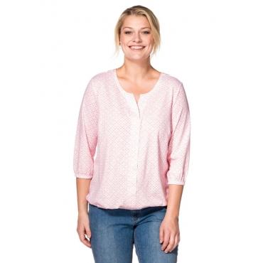 Große Größen: Blusenshirt mit Minimal-Print, zartrosa, Gr.40/42-56/58