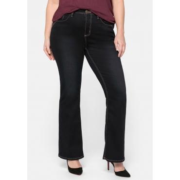 Bootcut Jeans mit farbigen Details, in 5-Pocket-Form, blue black Denim, Gr.44-58