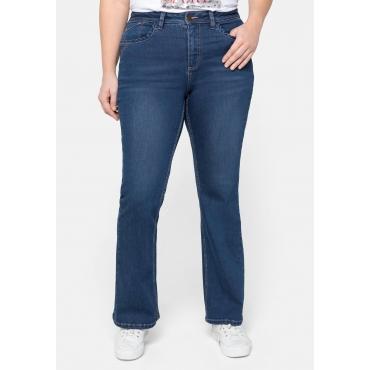 Bootcut Jeans mit farbigen Details, in 5-Pocket-Form, blue Denim, Gr.44-58