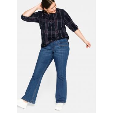 Bootcut Jeans mit zweifarbigen Nähten, stretch, blue Denim, Gr.44-58