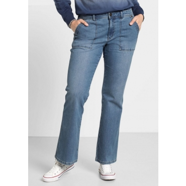 Große Größen: Bootcut-Stretch-Jeans, blue Denim, Gr.40-58