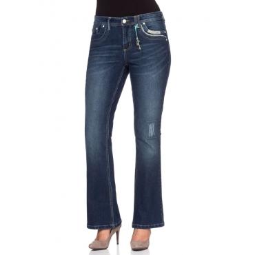 Große Größen: Bootcut Stretch-Jeans, dark blue Denim, Gr.40-58