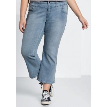Große Größen: Bootcut-Stretch-Jeans in 7/8-Länge, light blue Denim, Gr.44-58
