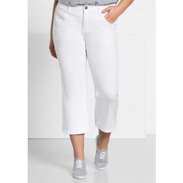 Große Größen: Bootcut-Stretch-Jeans in 7/8-Länge, white Denim, Gr.44-58