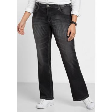 Große Größen: Bootcut-Stretch-Jeans MAILA, black Denim, Gr.21-1045