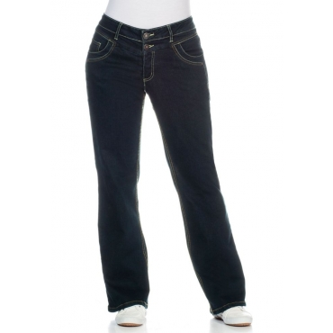 Große Größen: Bootcut-Stretch-Jeans MAILA, blue black Denim, Gr.21-104
