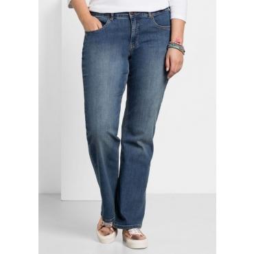 Große Größen: Bootcut-Stretch-Jeans MAILA, blue Denim, Gr.20-58