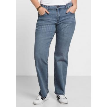 Große Größen: Bootcut-Stretch-Jeans MAILA, blue Denim, Gr.21-104