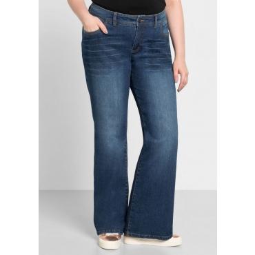 Große Größen: Bootcut-Stretch-Jeans MAILA, blue Denim, Gr.40-58
