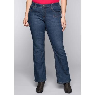 Große Größen: Bootcut-Stretch-Jeans MAILA, blue Denim, Gr.44-58