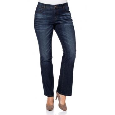 Große Größen: Bootcut-Stretch-Jeans MAILA, dark blue Denim, Gr.20-116