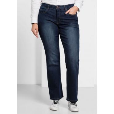 Große Größen: Bootcut-Stretch-Jeans MAILA, dark blue Denim, Gr.20-84
