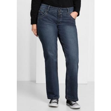 Große Größen: Bootcut-Stretch-Jeans MAILA, dark blue Denim, Gr.21-104