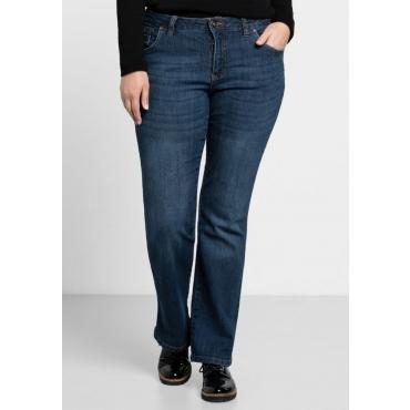 Große Größen: Bootcut-Stretch-Jeans MAILA, dark blue Denim, Gr.21-116