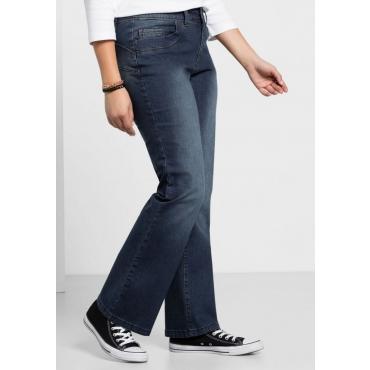 Große Größen: Bootcut-Stretch-Jeans MAILA, dark blue Denim, Gr.40-104