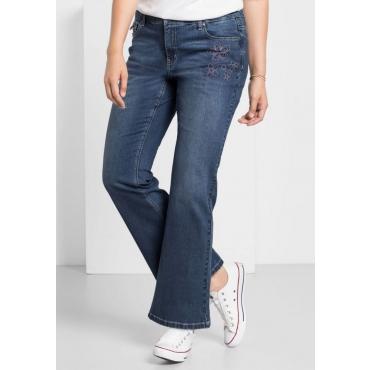 Große Größen: Bootcut-Stretch-Jeans MAILA, dark blue Denim, Gr.40-58