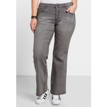 Große Größen: Bootcut-Stretch-Jeans MAILA, grey Denim, Gr.21-104