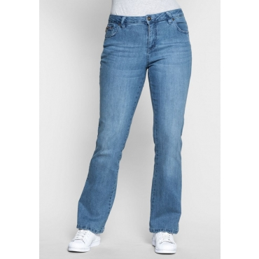 Große Größen: Bootcut-Stretch-Jeans MAILA, light blue Denim, Gr.21-116