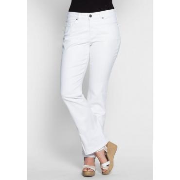 Große Größen: Bootcut-Stretch-Jeans MAILA, white Denim, Gr.20-116