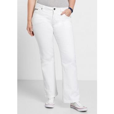 Große Größen: Bootcut-Stretch-Jeans MAILA, white Denim, Gr.21-116