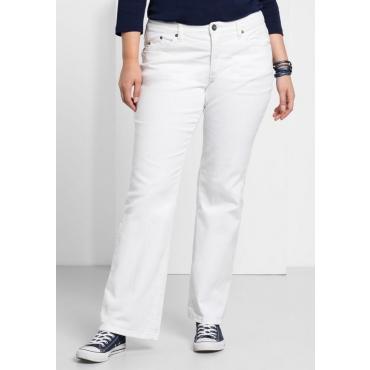 Große Größen: Bootcut-Stretch-Jeans MAILA, white Denim, Gr.21-104