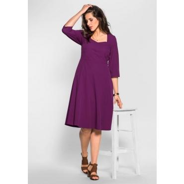 Große Größen: Bustierkleid mit 3/4-Ärmeln, purpur, Gr.40-58