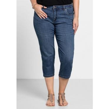 Große Größen: Capri-Stretch-Jeans, blue Denim, Gr.40-58