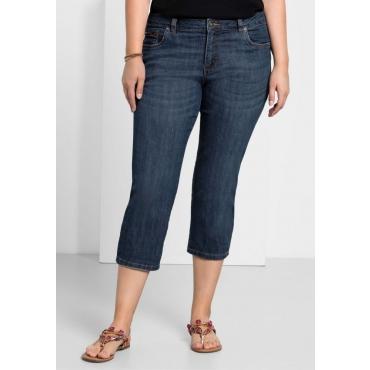 Große Größen: Capri-Stretch-Jeans, dark blue Denim, Gr.40-58