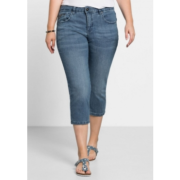 Große Größen: Capri-Stretch-Jeans, light blue Denim, Gr.40-58