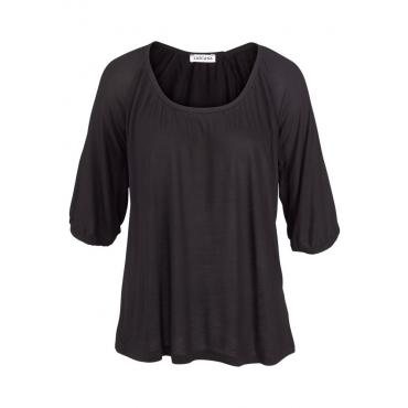 Große Größen: LASCANA Pyjama in edler Layeroptik, schwarz, Gr.40/42-56/58